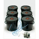 Kit de Aeroponia 6 bucket 20lt Air Bubble 110vt